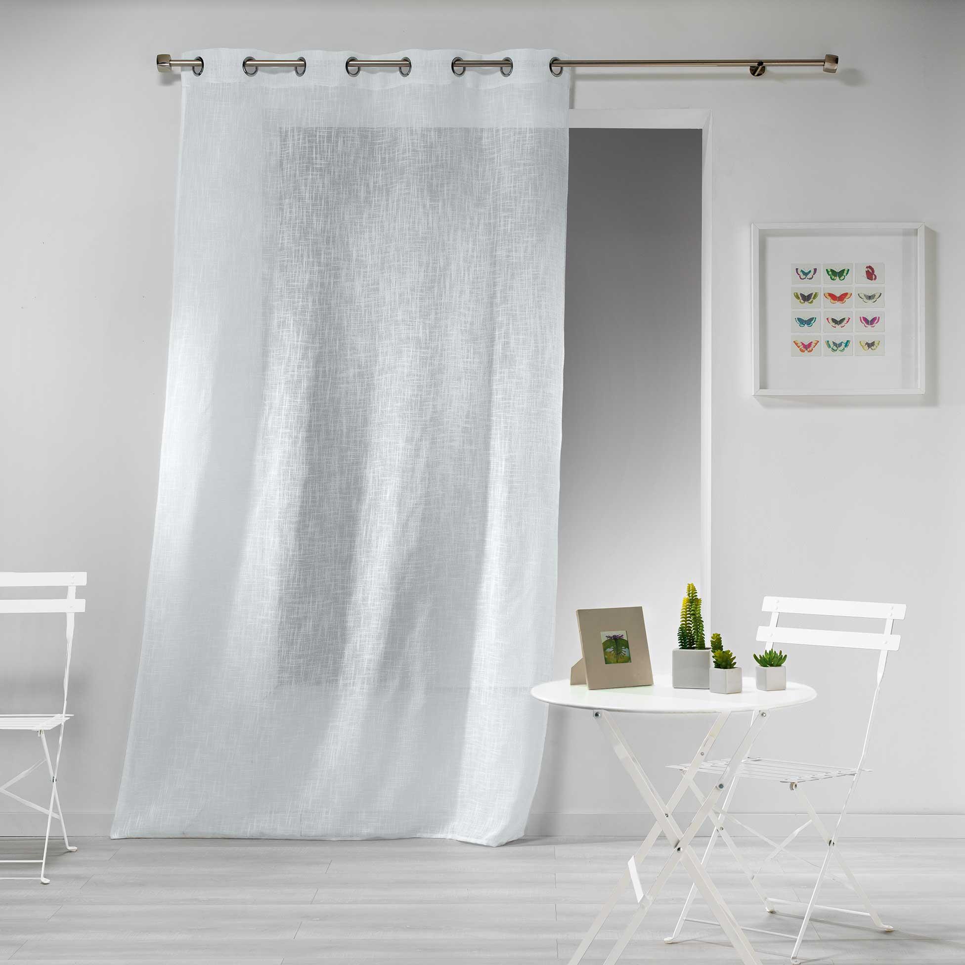 Transparent Eyelet Curtain Gaya, White