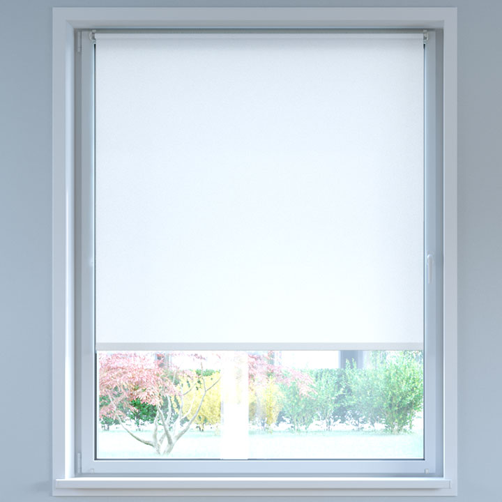 Darkening No Drill Standard Roller Blind, White