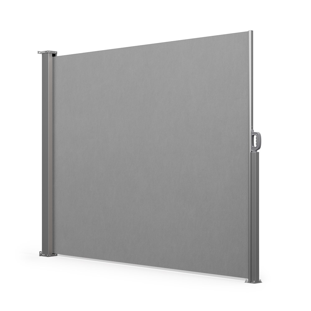 Retractable Patio Windbreak, Ready made, Grey