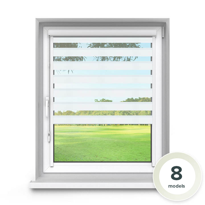 PVC PureNight Premium Day and Night Blind, White