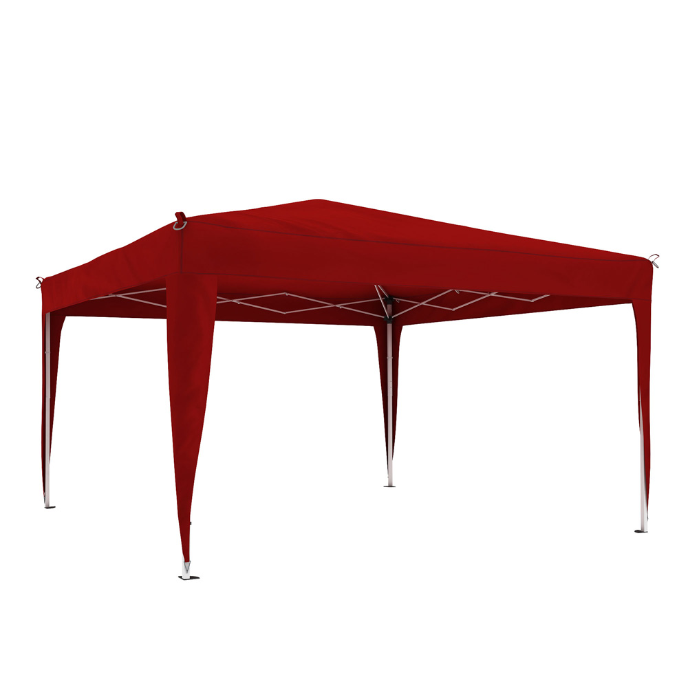 Premium Gazebo frame with cover, 3x3 m, Maroon