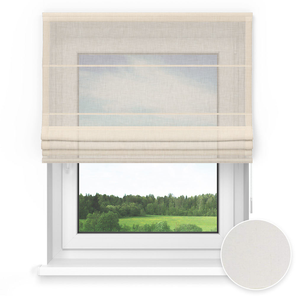 Transparent Standard Roman Blind, Mascarpone
