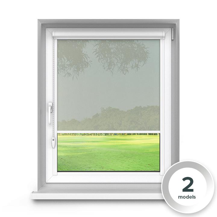 Transparent Aluminium PureNight Premium Roller Blind, Grey