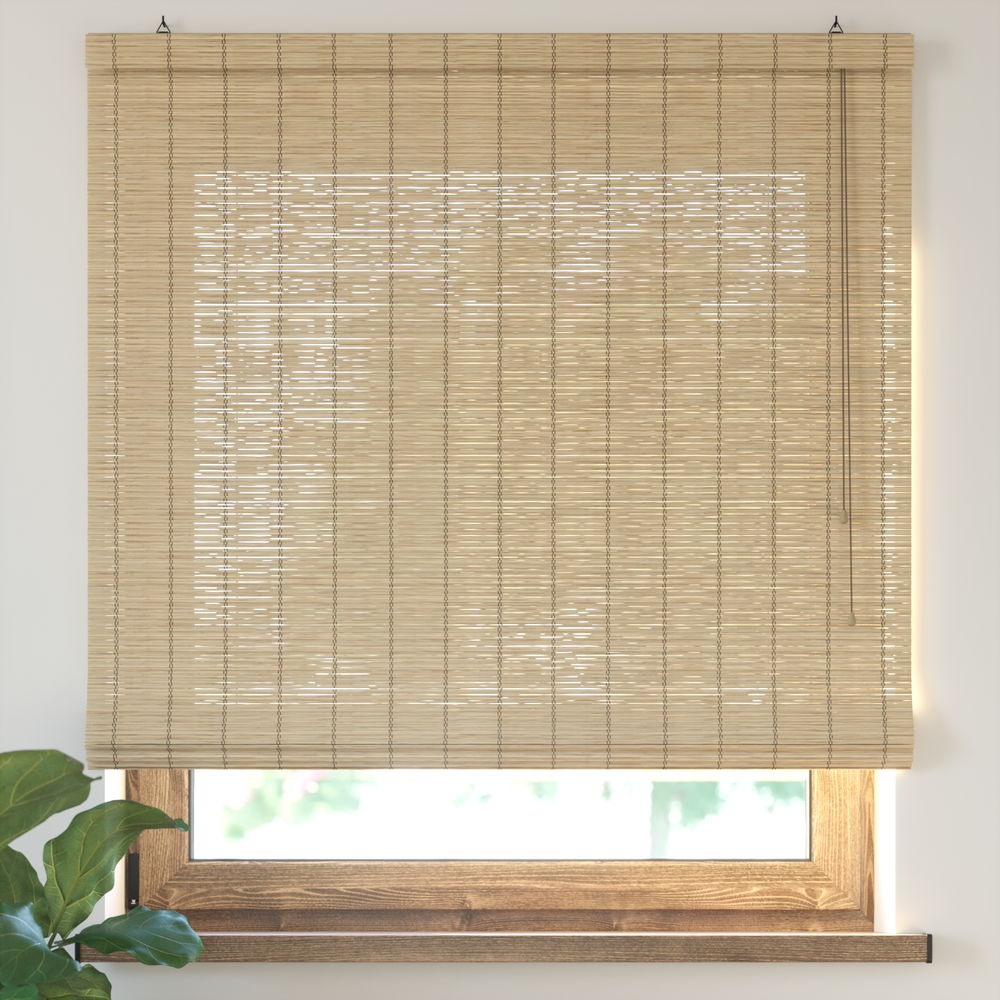 Bamboo Roman Roller Blind Ready Made, Natural