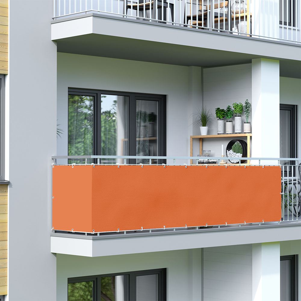 Balcony Screen, Waterproof, Orange