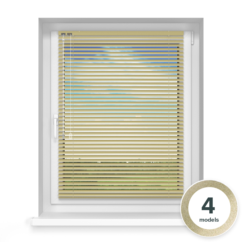 25mm slat Aluminium Blind, Gold