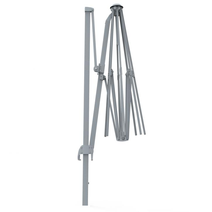 Aluminium frame for rectangular 4x3 m umbrella