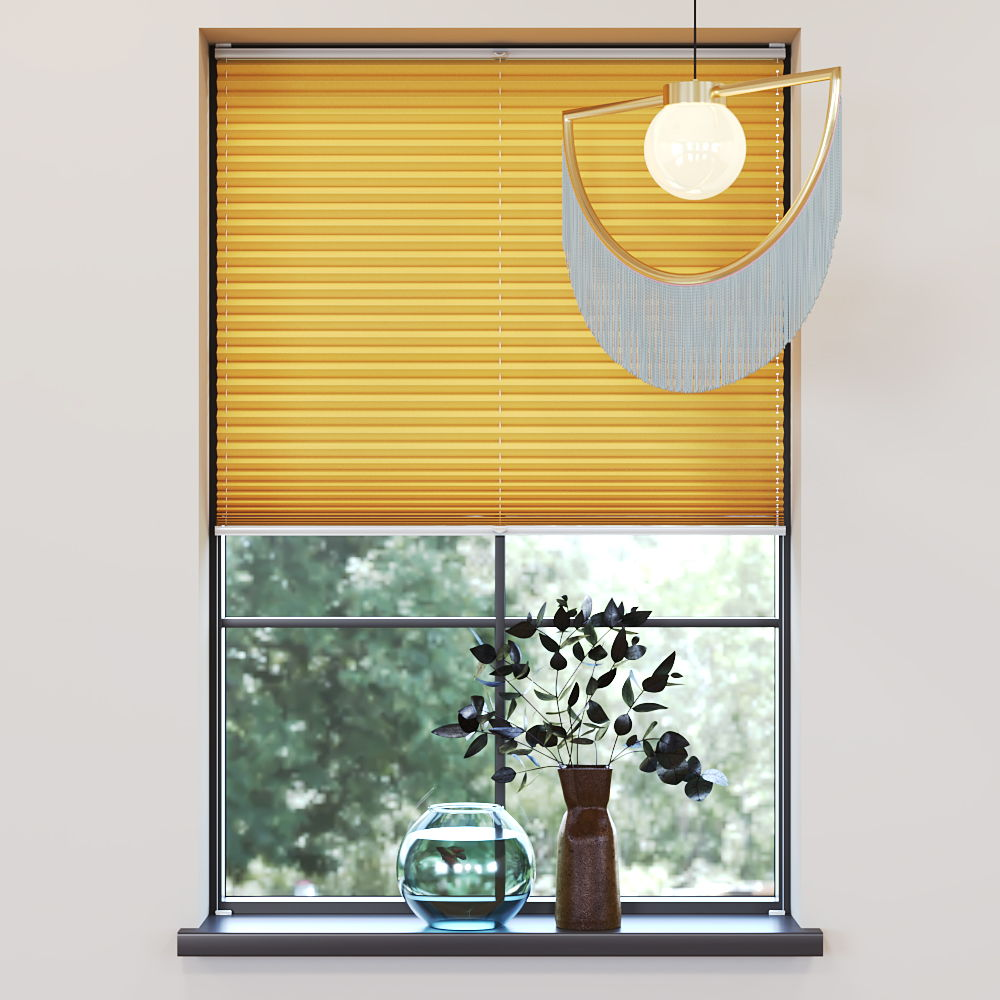 Trimmed to size Pleated Blind, Carla Yellow