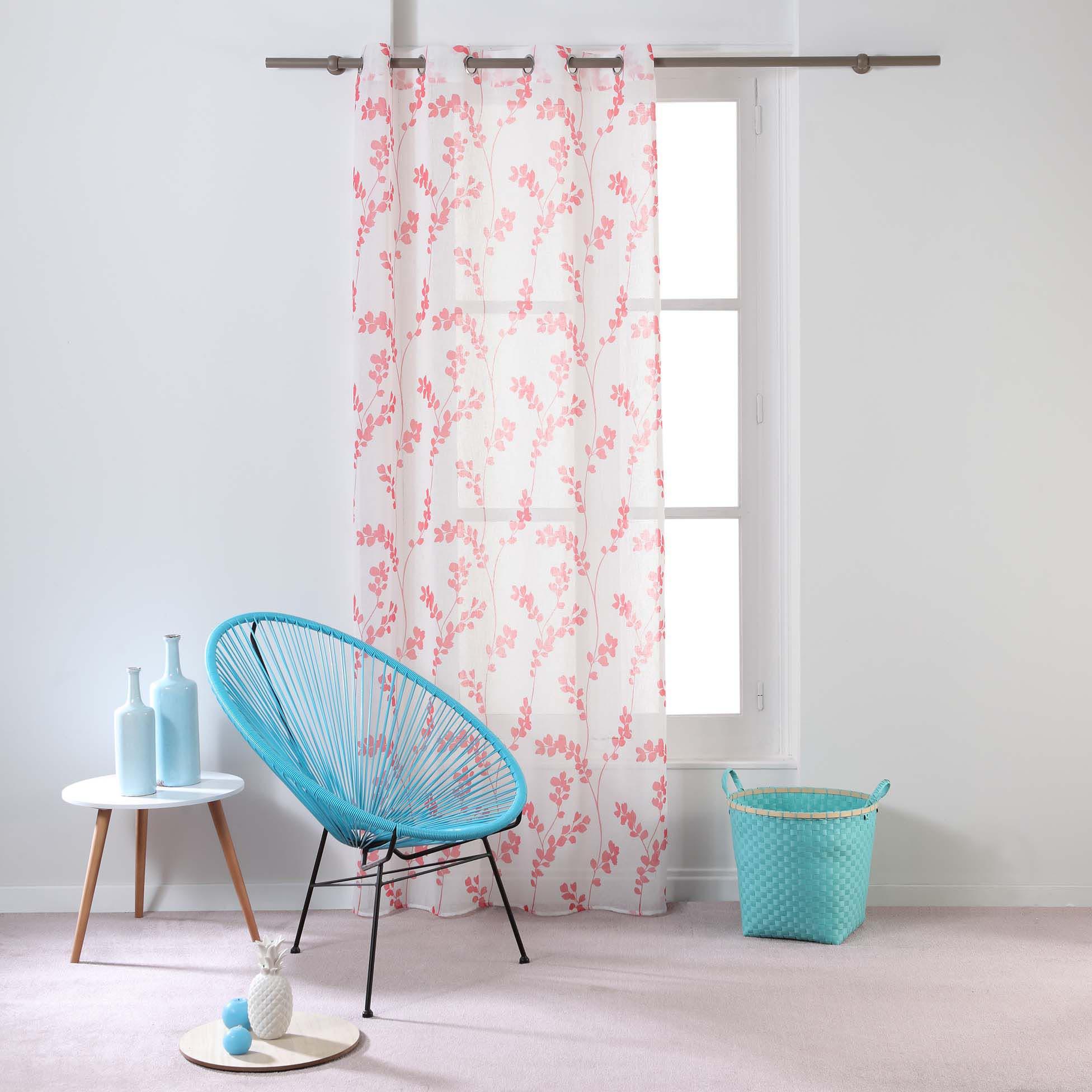 Transparent Eyelet Curtain Tilia, Coral
