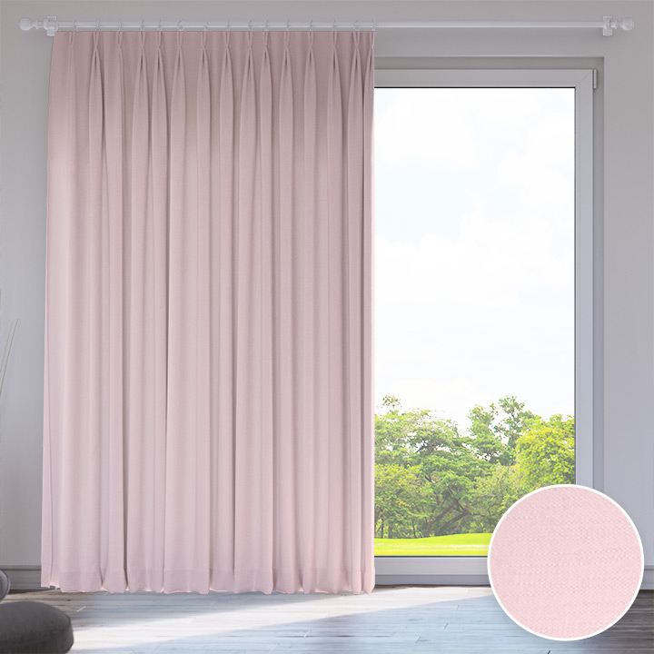 Darkening Made to Measure Catalea Curtain, Rose Flake