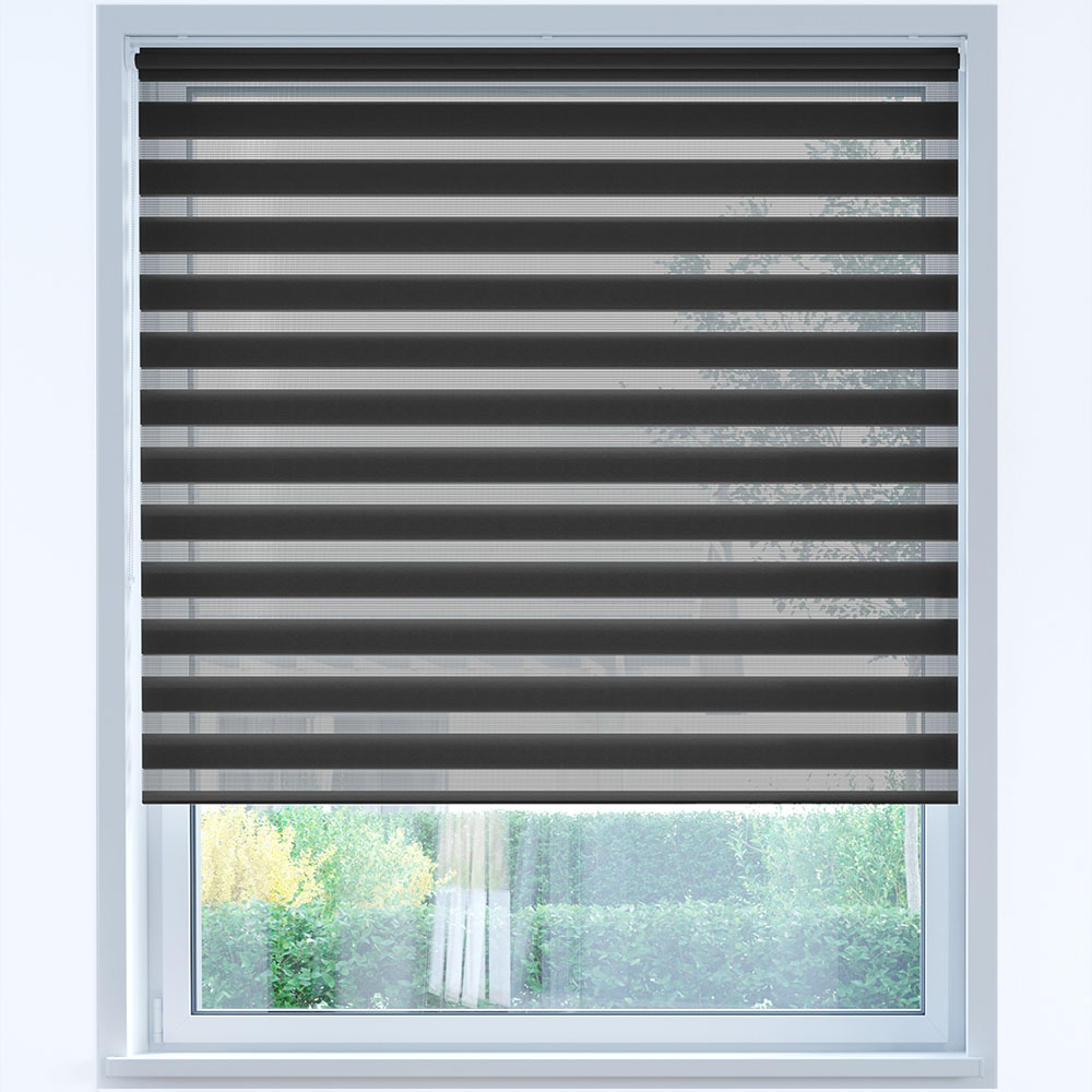 Standard Day and Night Roller Blind, Graphite