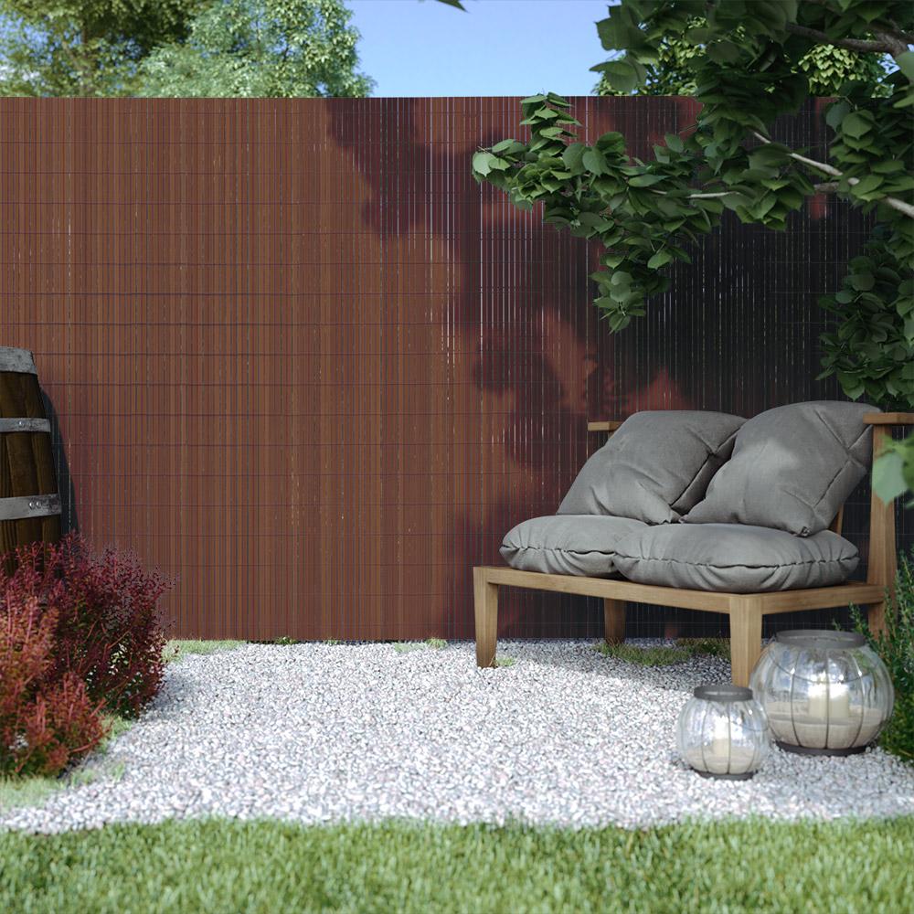 PVC screen border 17 mm, Brown