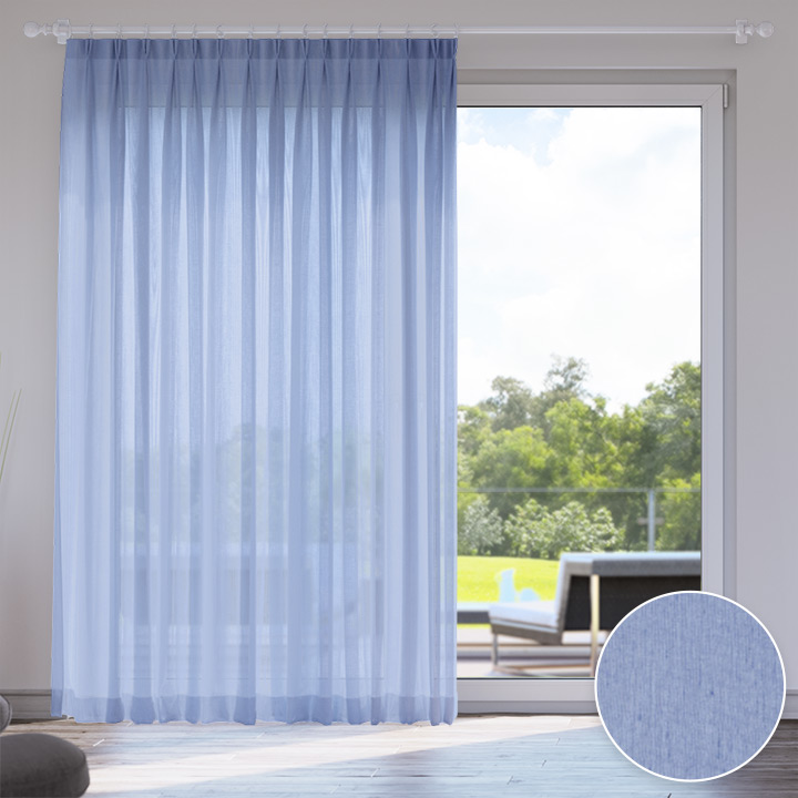 Voile Made to Measure Livani Curtain, Icicle