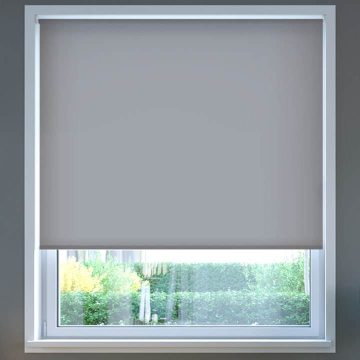 Darkening Standard Roller Blind, Nickel