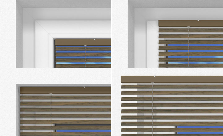 Where to fit the wooden blind?