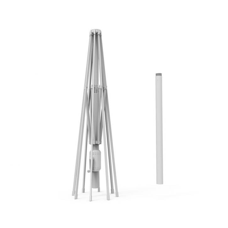 Aluminium frame for a 3x3 m square sunshade