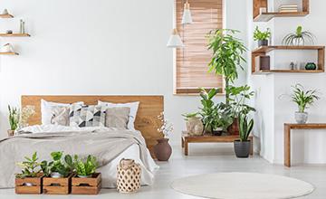 Modern Bedroom bamboo Blind