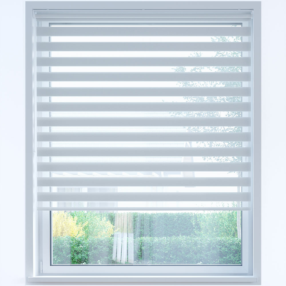 Standard Day and Night Roller Blind, Nickel