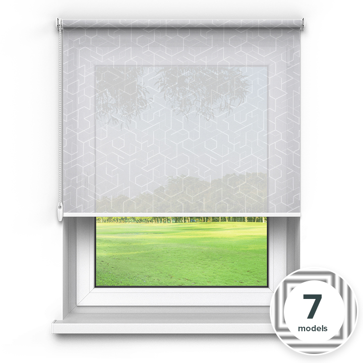 Transparent Premium Roller Blind, Design
