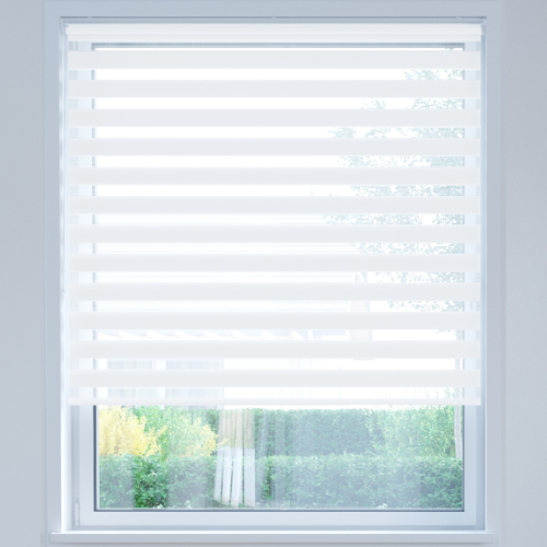 Standard Day and Night Roller Blind, Ice White