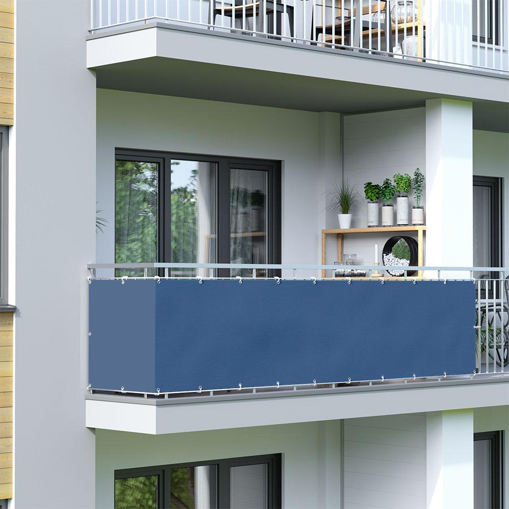 Balcony Screen, Waterproof, Azure