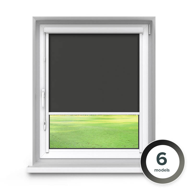 Darkening PVC PureNight Premium Roller Blind, Black