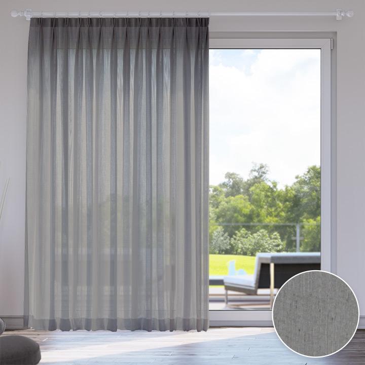 Voile Made to Measure Livani Curtain, Concrete City