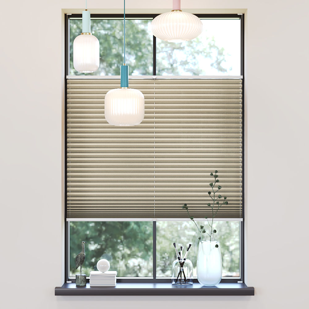 Trimmed to size Pleated Blind, Sumire Cream