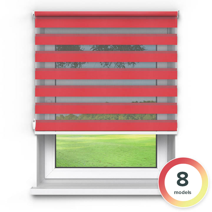 Premium Day and Night Blind, Red
