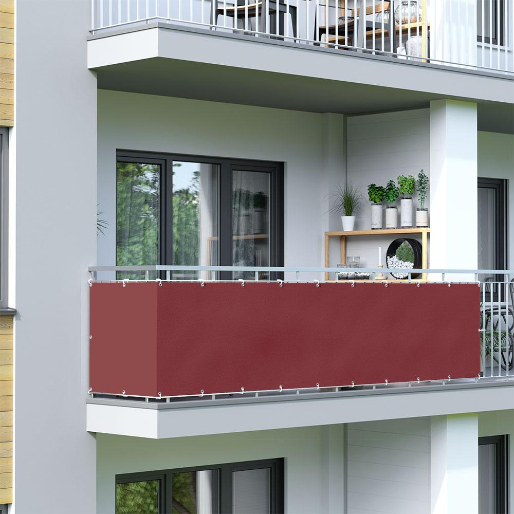 Balcony Screen, Waterproof, Bordeaux