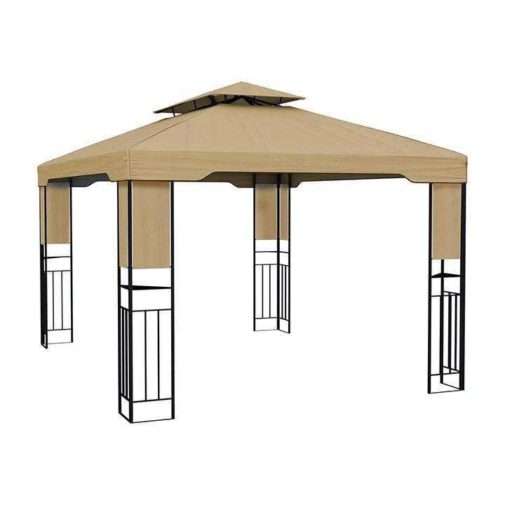 Deluxe Gazebo frame with cover, 3x4 m