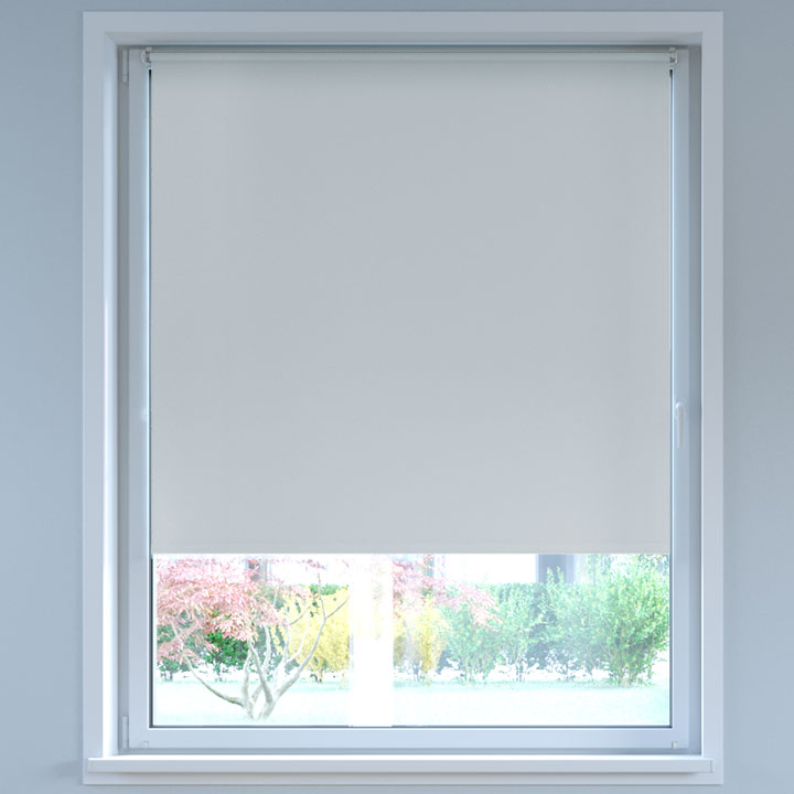 Blackout No Drill Roller Blind, Light grey