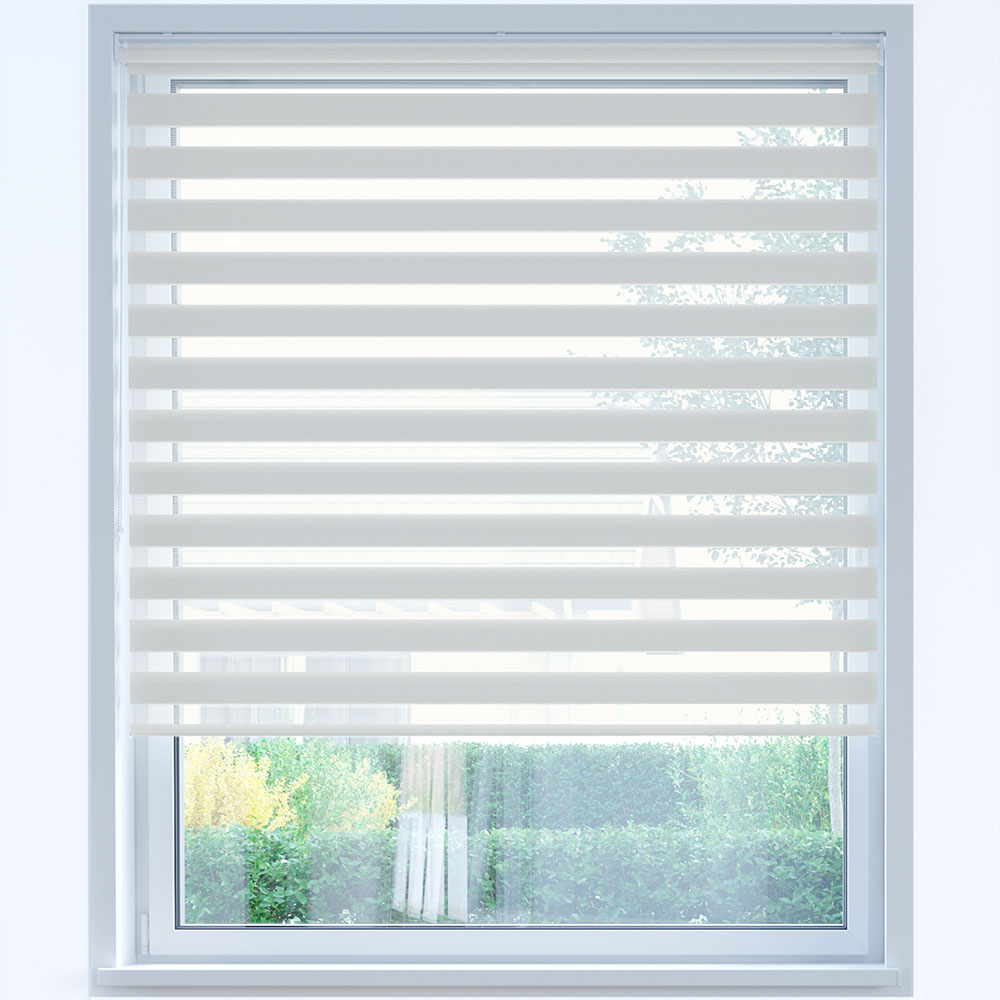 Day and Night Roller Blind, White Chocolate