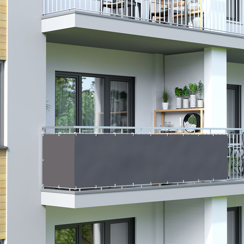 Balcony Screen, Waterproof, Anthracite