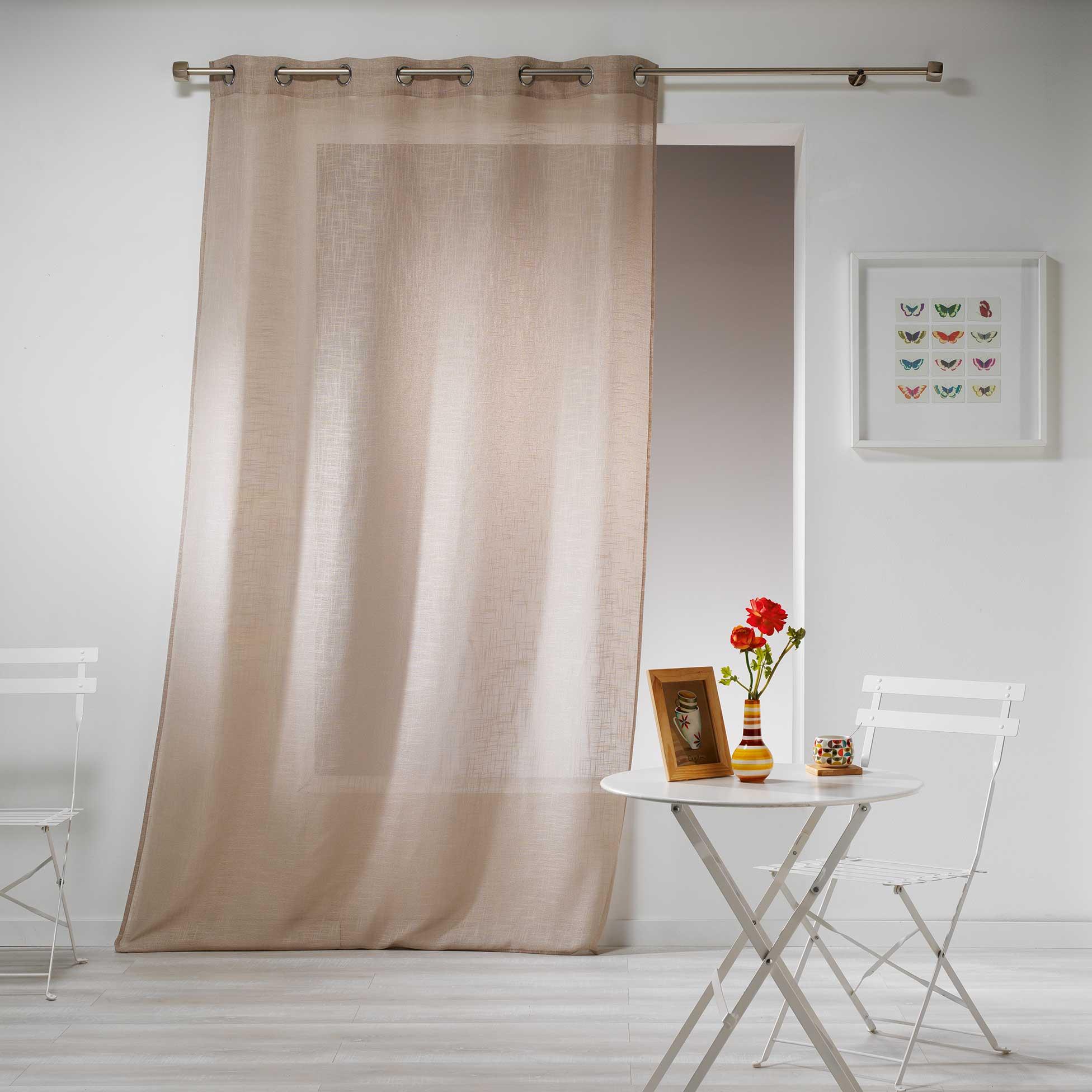 Transparent Eyelet Curtain Gaya, Linen