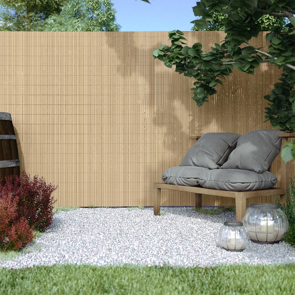 PVC screen border 17 mm, Bamboo