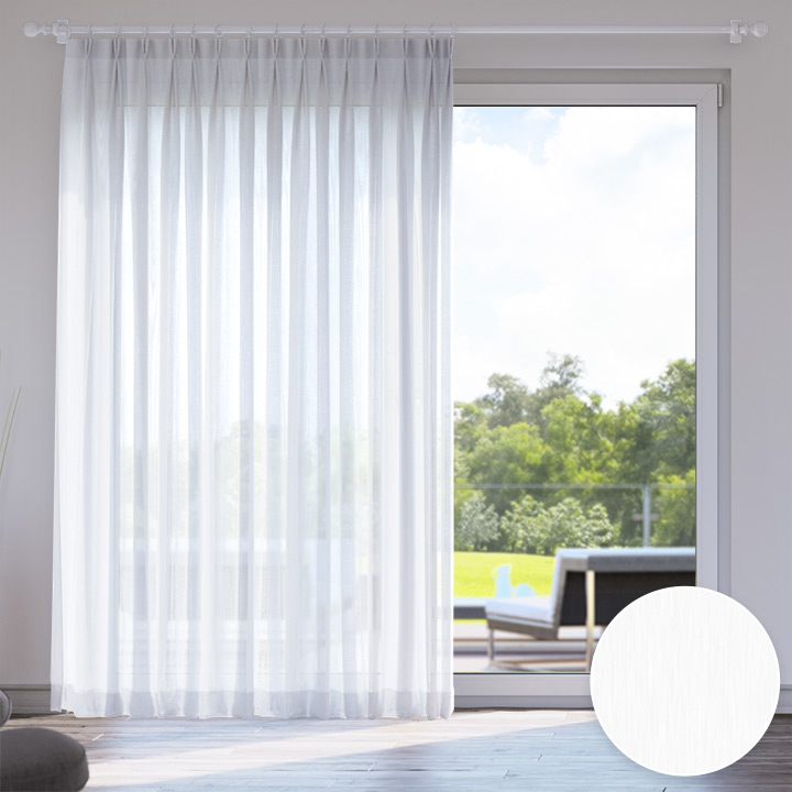 Voile Made to Measure Livani Curtain, Coconut
