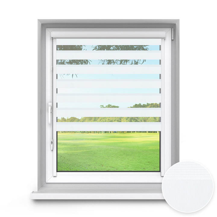 PureNight Standard Day and Night Blind, White