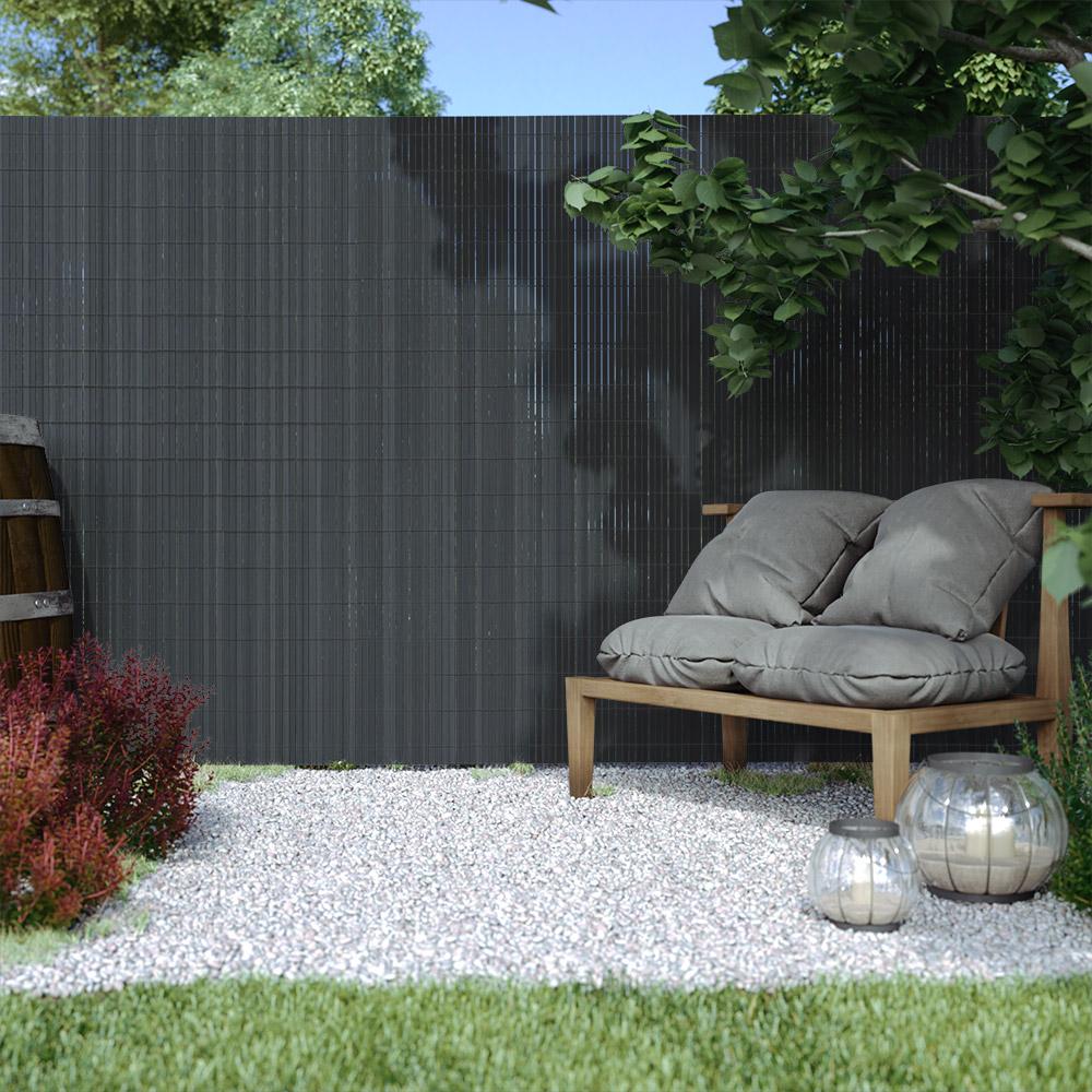 PVC screen border 17 mm, Grey