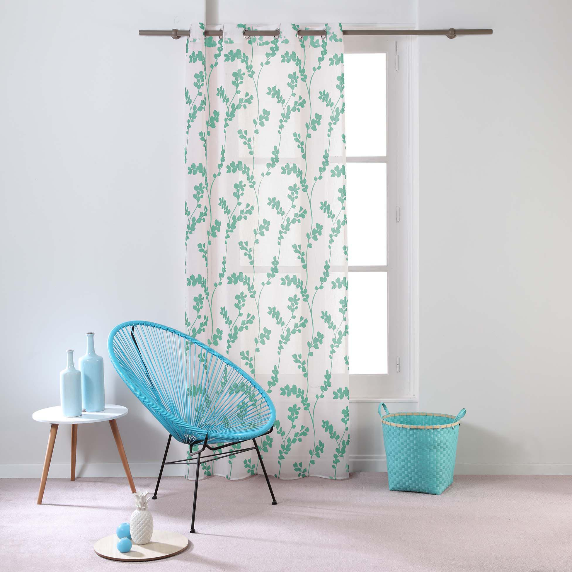 Transparent Eyelet Curtain Tilia, Mint