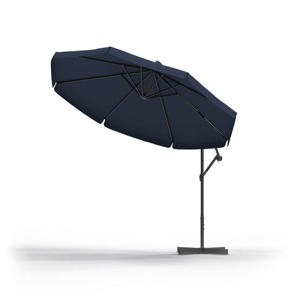 Round Garden Umbrella, 3 m, Navy blue