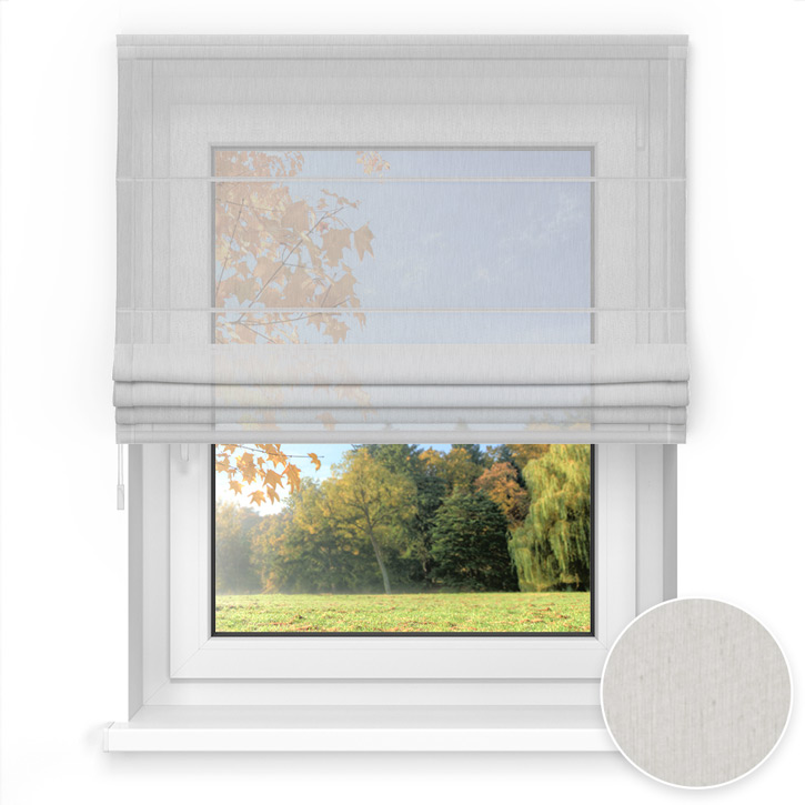 Transparent Easy Roman Blind, Light grey