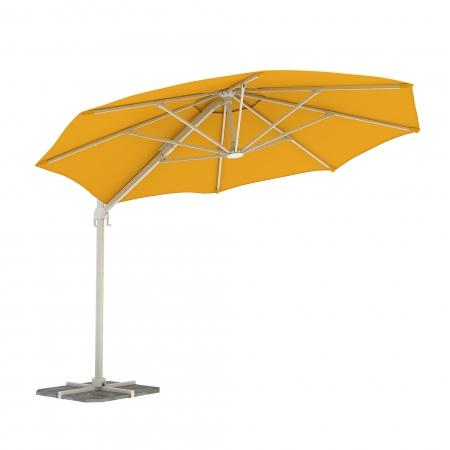 Round Garden Umbrella, 3,5 m, Yellow