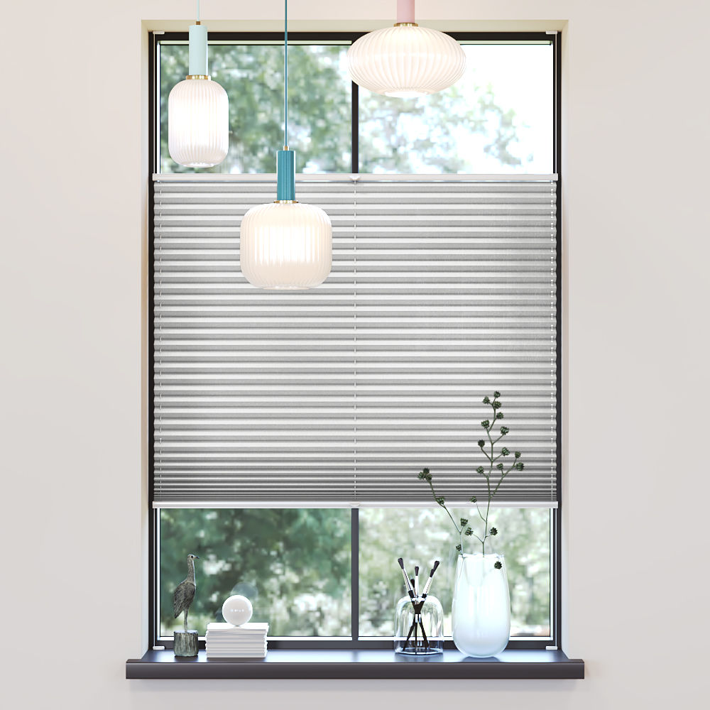 Trimmed to size Pleated Blind, Sumire White