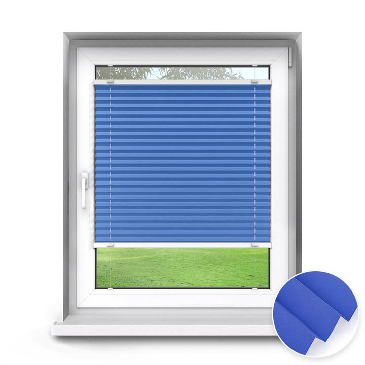 Trimmed to size Standard Pleated Blind, Carla Blue