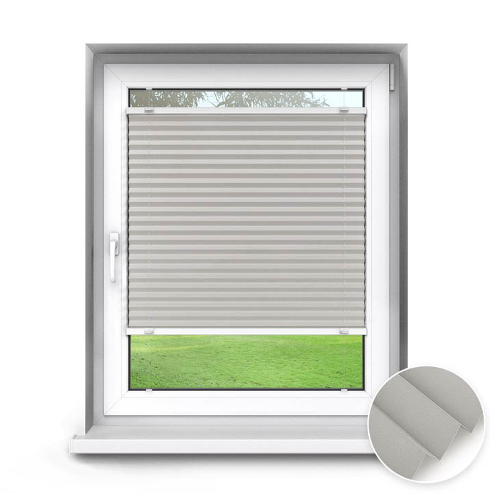 Trimmed to size Standard Pleated Blind, Pebble