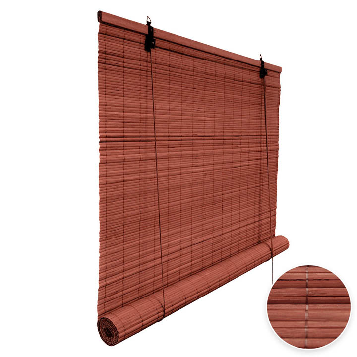Bamboo Roller Blind Ready Made, Cherry