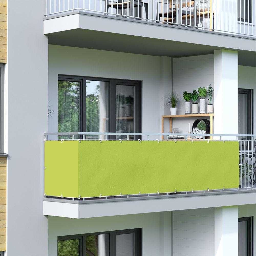 Balcony Screen, Waterproof, Light Green