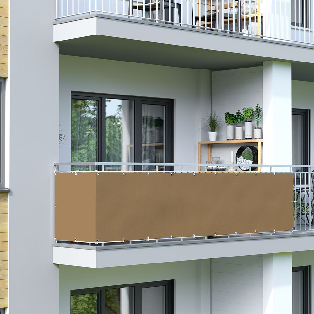Balcony Screen, Waterproof, Brown