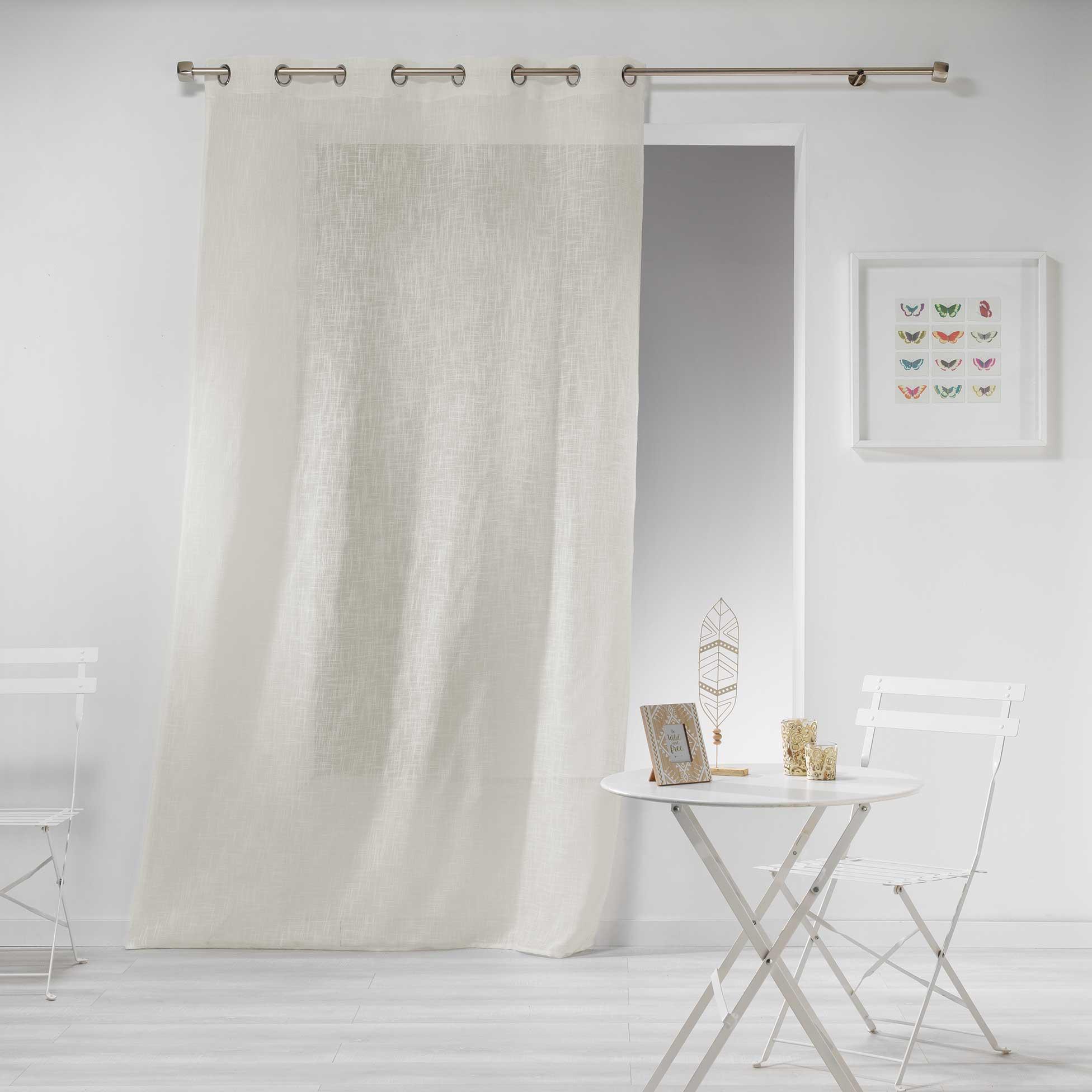 Transparent Eyelet Curtain Gaya, Cream